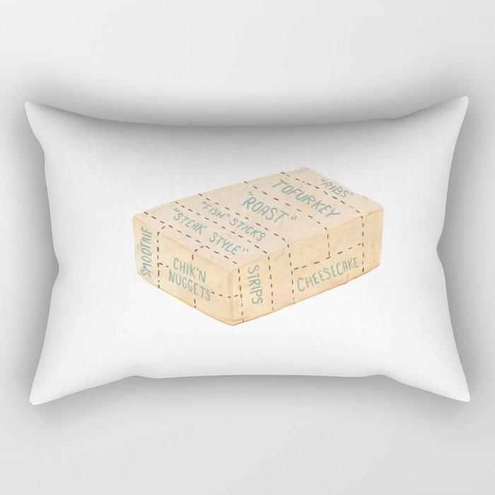 Tofu Cuts Rectangular Pillow