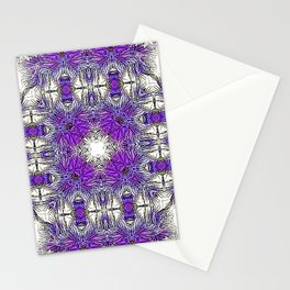 Palm Leaves Abstract Art Pattern Stationery Cards