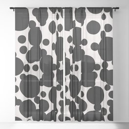 Scattered spots print Sheer Curtain