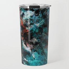 Abstract and Modern Teal Painting Travel Mug