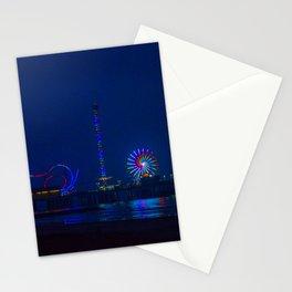 Galveston Pleasure Pier At Night Stationery Cards