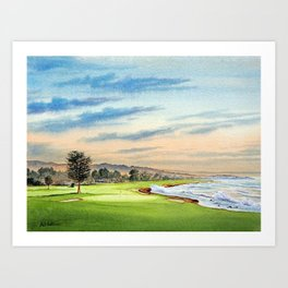 Pebble Beach Golf Course 18th Hole Art Print