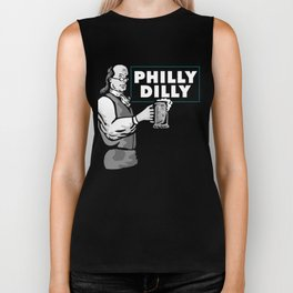 Philly Dilly Ben franklin Cheers a Beer Biker Tank