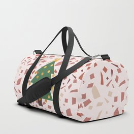 Christmas tree and terrazzo Duffle Bag