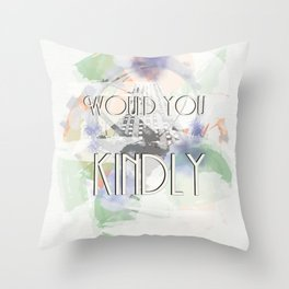 Would You Kindly - Bioshock Throw Pillow