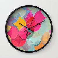 fifth harmony Wall Clocks featuring HARMONY by Julia Tomova