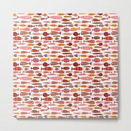 School of tropical fish pattern Metal Print