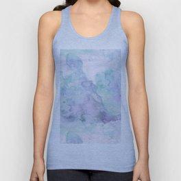 Pastel modern purple lavender hand painted watercolor wash Unisex Tank Top