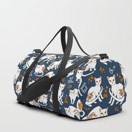 Oh, no! Your cat got a tattoo (blue) Duffle Bag