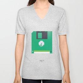 Pixelated Technology - Diskette Unisex V-Neck