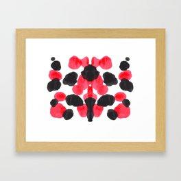 Red & Black Inkblot Colorful Pattern Framed Art Print