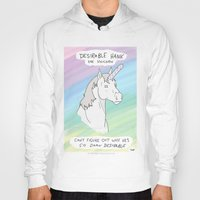 penis Hoodies featuring Unicorn, Penis horn by Bluh