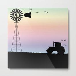 Farm Morning Sky Metal Print