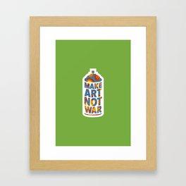 Make Art Not War (African print green) Framed Art Print