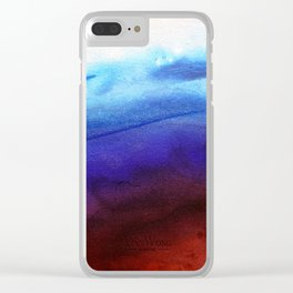 Ruby Tides - Original Abstract Art Clear iPhone Case