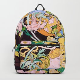 Alfons Mucha - Woman With Flowers - Digital Remastered Edition Backpack