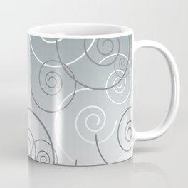 Spirals silver grey white silver Background Coffee Mug