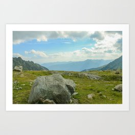 Big rock high in the mountains Art Print