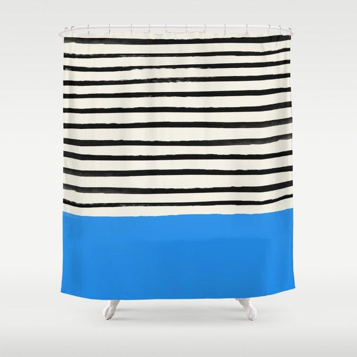Ocean x Stripes Shower Curtain