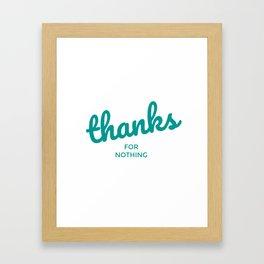 Grattitude. Framed Art Print