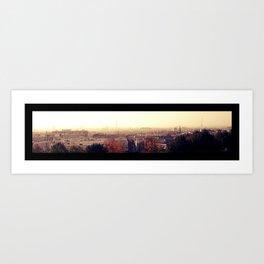 Paris silhouette Art Print