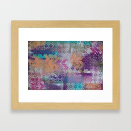 Pink and salmon arrows Framed Art Print