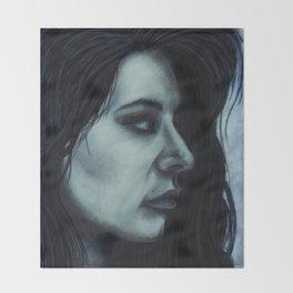 Melancholia Blue Throw Blanket