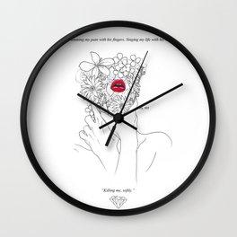 petite morte Wall Clock