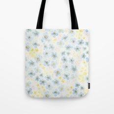 Blue Fields. Fictional Flowers. Tote Bag