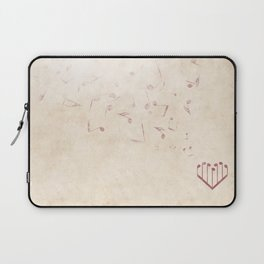 Music Heart old paper Laptop Sleeve