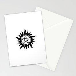 Anti Possession Sigil Black Stationery Cards