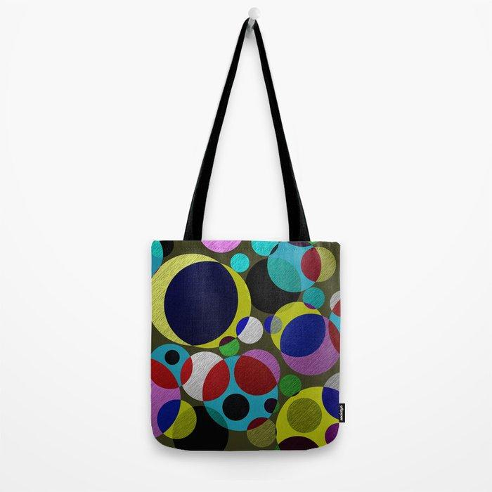 Bubbles - Fun, geometric, colourful design Tote Bag
