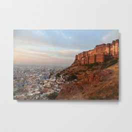 Sunrise on Mehrengarh fort, Jodhpur, India Metal Print