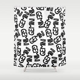 Gemini Pattern Shower Curtain