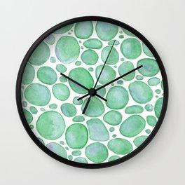 Bubbles/Rocks Green Wall Clock