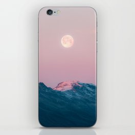Moon and the Mountains – Landscape Photography iPhone Skin