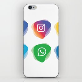 social media Whatsapp instagram facebook snapchat linkdn twitter iPhone Skin