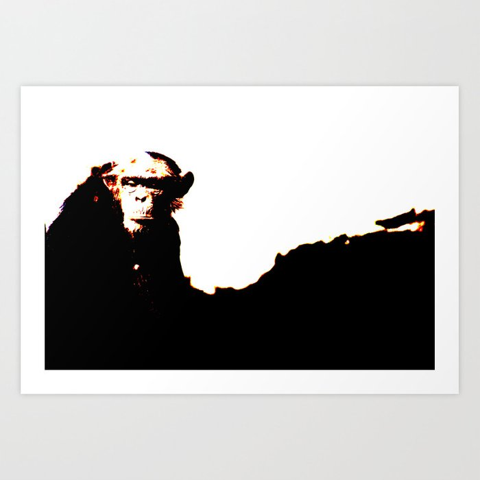Abstract Chimp Art Print