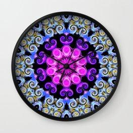 Colorful Oriental Mandala Wall Clock