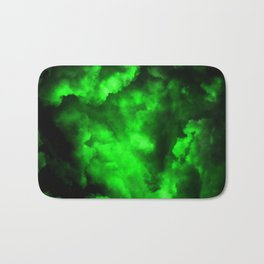 Envy - Abstract In Black And Neon Green Bath Mat