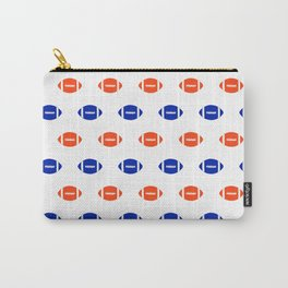 Florida fan university gators orange and blue college sports footballs pattern Carry-All Pouch