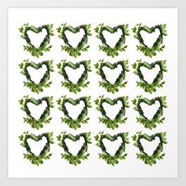 native hearts Art Print