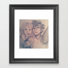 A Normal Couple Framed Art Print