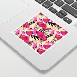 Vibrant Floral Wallpaper Sticker