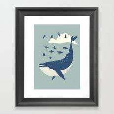 Fly in the sea Framed Art Print