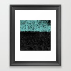 Topography Aqua Framed Art Print