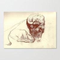 buffalo Canvas Prints featuring Buffalo by Smog