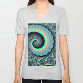 The Mother of All, Abstract Fractal Art Unisex V-Neck