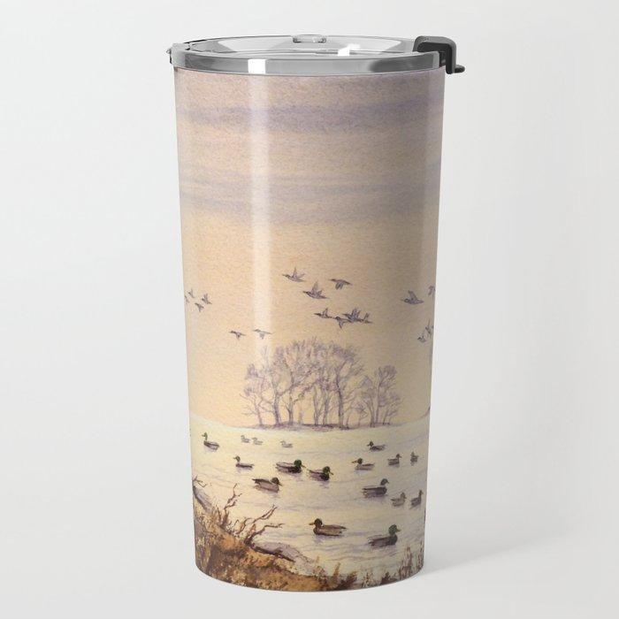 Duck Hunting Times Travel Mug