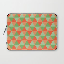 Retro Pattern Triangles Orange/Green Laptop Sleeve